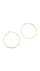 Jennifer Zeuner Jewelry Small Hoop Earrings Gold