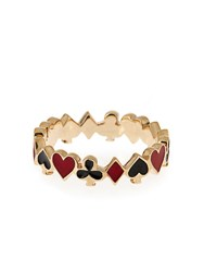 Alison Lou Enamel And Yellow Gold Mixed Suit Ring