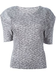 Pleats Please By Issey Miyake Vintage Pleated T Shirt Grey