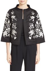 Ted Baker Women's London 'Abhy' Embroidered Stand Collar Jacket