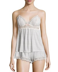 Eberjey Secret Attic Lace Lounge Camisole Earl Gray Earl Grey