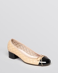Paul Mayer Cap Toe Pumps Titou Black Beige