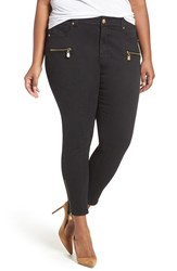 Melissa Mccarthy Seven7 Plus Size Women's Gold Zip Pencil Jeans