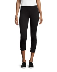 Xcvi Ruched Ankle Leggings Black