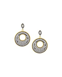 Freida Rothman Round Pave Crystal Drop Earrings Women's