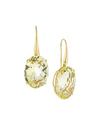 Roberto Coin 18K Lemon Quartz Drop Earrings Women's