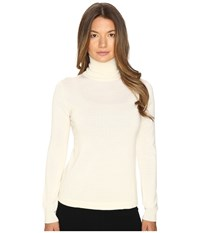 Cashmere In Love Shayne Turtleneck Pullover Off White Women's Long Sleeve Pullover