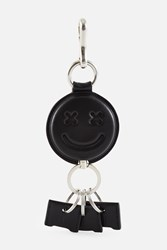 Alexander Wang Smiley Embossed Keychain Black