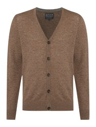 Howick Arlington 100 Lambswool Cardigan Earth