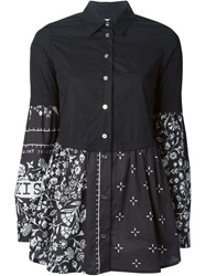 Mm6 Maison Margiela Floral Print Shirt Black