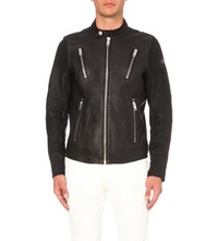 Diesel L Rambo Leather Jacket Black
