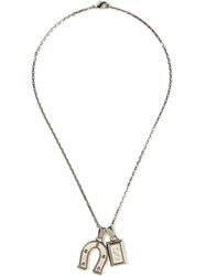 Dolce And Gabbana Charm Pendant Necklace Metallic