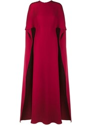 Valentino Crepe Cape Gown Pink And Purple