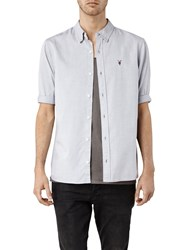 Allsaints Redondo Half Sleeve Shirt Light Grey