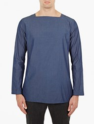 Paul Smith Blue Square Neck Chambray Top