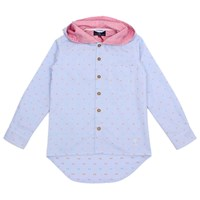 Jessie And James London Hooded Tail Shirt Regent Blue