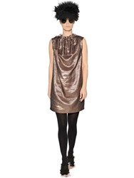Gianluca Capannolo Draped Lame Dress