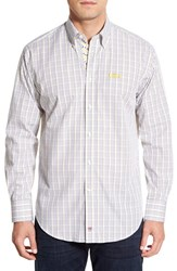 Men's Thomas Dean 'Lsu Tigers' Regular Fit Long Sleeve Plaid Sport Shirt