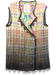 Marco De Vincenzo Checked Fringed Vest