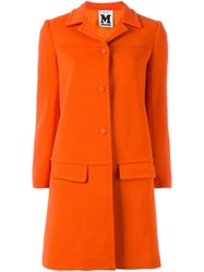M Missoni Buttoned Up Coat Yellow And Orange