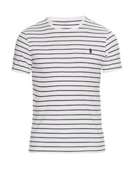 Polo Ralph Lauren Striped Cotton T Shirt White Multi