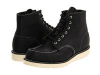 Red Wing Shoes 6 Moc Toe Black Harness Men's Lace Up Boots