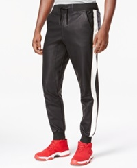 Ring Of Fire Faux Leather Side Stripe Jogger Pants