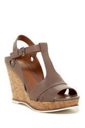 Susina Tyra Platform Wedge Sandal Wide Width Available Brown