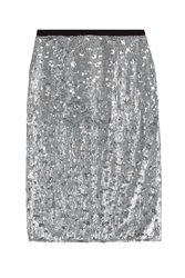 Burberry London Sequin Skirt Silver