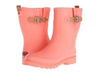 Chooka Top Solid Mid Rain Boot Papaya Women's Rain Boots Orange