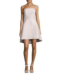 Halston Strapless Hi Lo Dress Barely Pink