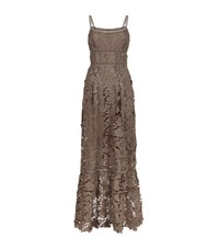 Elie Tahari Jill Lace Maxi Dress Female Chocolate