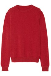 The Elder Statesman Ra Cashmere Sweater Red