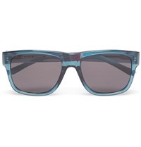 Orlebar Brown Square Frame Acetate Sunglasses Blue