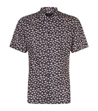 Allsaints All Saints Salix Palm Shirt Male Black