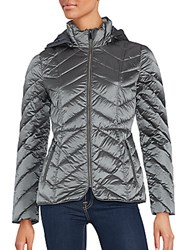 Saks Fifth Avenue Zip Front Puffer Jacket Black