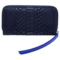 Lili Radu Smart Wallet Black Python Print Blue