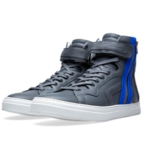 Pierre Hardy Les Baskets High Sneaker Dark Grey And Blue