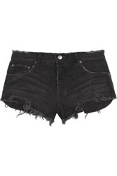 Ksubi Alberceque Distressed Denim Shorts Black