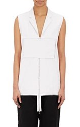 Hood By Air Women's Leather Vest White