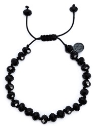 Joseph Brooks Spinel Beaded Necklace Black
