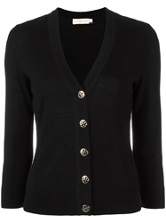 Tory Burch 'Shrunken Simone' Cardigan Black