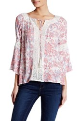Jessica Simpson Peasant Blouse Pink