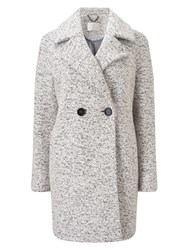 Jacques Vert Oversized Textured Db Coat Grey