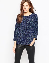 French Connection Soho Boa Drape Tunic Black Multi