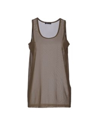 New York Industrie Sleeveless T Shirts Khaki