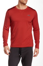 The North Face Quantum Crew Neck Long Sleeve Tee Red