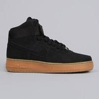 Nike Air Force 1 Hi Suede Black Black