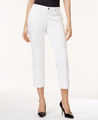 Styleandco. Style And Co. Petite Curvy Fit Rhinestone Hem Capri Jeans Only At Macy's
