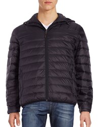 Hawke And Co Packable Down Puffer Hooded Coat Black